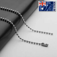 """Wholesale 316L Stainless Steel Ball Bead Necklace Chain For Pendants 16"""" - 36"""""""