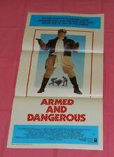 original ARMED AND DANGEROUS Australian daybill movie poster John Candy