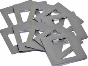 10 x Glassless slide mounts 5x5/24x36 Hinged Slide Mounts 35mm