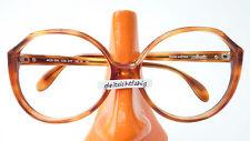 Occhiali oversized modello SILHOUETTE CORNO ottica Marrone grandi bicchieri da donna 80s Taglia M