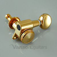6 Gold LOCKING Tuners Stratocaster Telecaster Strat Tele ®* guitars SP05 GD