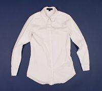 Womens Burberry White Slim Button Down Long Sleeve Shirt Size 40