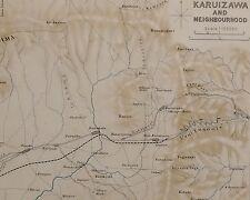 1907 JAPAN JAPANESE TOURIST MAP ~ KARUIZAWA & NEIGHBOURHOOD ASAMA USUI TUNNELS