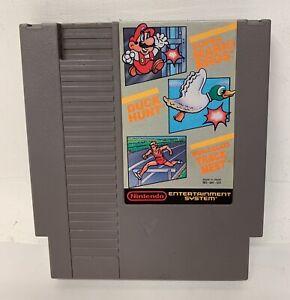 Super Mario Bros. / Duck Hunt / World Class Track Meet ORIGINAL NES CARTRIDGE