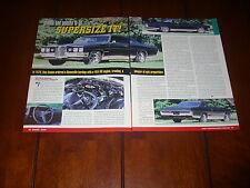 1970 PONTIAC BONNEVILLE 455 HO ***ORIGINAL 2000 ARTICLE***