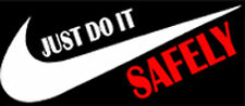 Safety Sticker  Just Do It Safely  CS-10