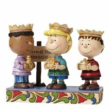 Peanuts by Jim Shore Three Wise Men Linus, Schroeder, Franklin Stone Resin