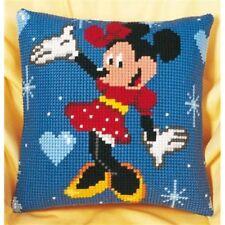 DISNEY Minnie Mouse trama grossa Cross Stitch Cuscino ANTERIORE KIT 40x40cm by Vervaco