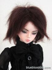 "1/4 bjd msd 7-8"" doll wig chestnut brown real mohair msd dollfie iplehouse luts"
