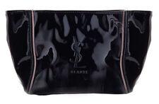 Yves Saint Laurent Ysl Beaute Beauty patent black cosmetic Bag Makeup Case purse