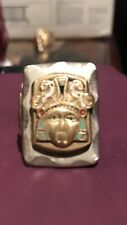 Rare Vintage Large Mexican Biker Ring Aztec Warrior