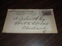 1868 CLEVELAND COLUMBUS & CINCINNATI RAIL ROAD COMPANY ENVELOPE