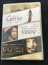 Carrie/Misery/The Silence of the Lambs (Dvd, 2014, 3-Disc Set) Horror/Thriller