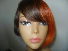 New Born Free 100% Human Hair short n sassy brown/copper full wig F2/35/240