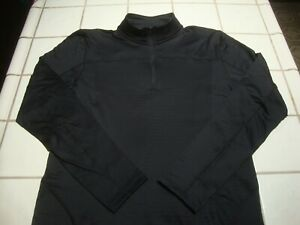 Under Armour Pullover BLACK ColdGear 1/4 Zip Long Sleeve Fitted Mens Large