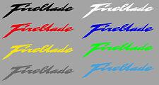 Aufkleberset Fireblade Schriftzug div. Farben u. Größen CBR 900 1000 SC 31 44 57