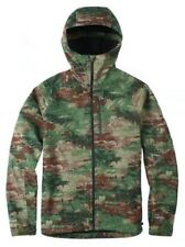 BURTON MB Process Camo Green Brown Dryride Softshell Hoodie Jacket New Mens M