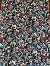 New listing 2+ Yards Vintage Peter Pan Fabric Blue Red Green Yellow Paisley Aztec Pattern