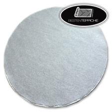 Rund Langlebig Modern Teppichboden UTOPIA silber große Größen! Teppiche nach Maß