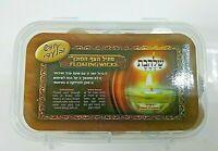 FLOATING WICKS Hanukkah & Shabbat 50 Pieces Menorah Glass Oil Cup