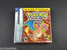 Pokemon FireRed Version Player's Choice Nintendo Game Boy Advance 2006