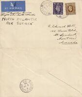 US 1939 TRANS ATLANTIC CLIPPER FIRST REGULAR FLIGHT UK TO CANADA FLOWN COVER