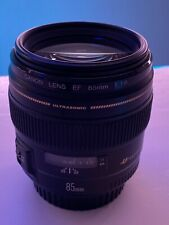 Canon EF 85mm f/1.8 USM Lens. Mint Condition