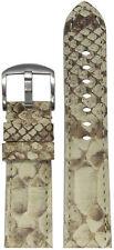 24mm Panatime Bone Genuine Python Skin Watch Band w Match Stitching 24/22 125/75