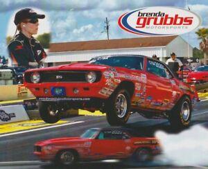 2013 Brenda Grubbs '69 Chevy Camaro Super Stock Eliminator NHRA Hero Card