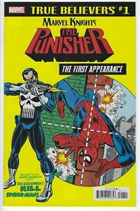 True Believers Punisher First Appearance #1 2018 NM Reprints Am. Spider-Man #129