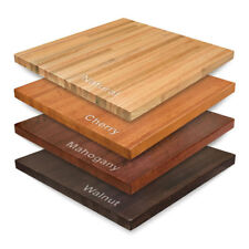 """New 30"""" Square Amish-Made Solid Maple Wood Butcher Block Table Top"""