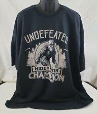 Undefeated Hide & Seek Champion Graphic T-Shirt Size 5Xl Black Sasquatch Nwot