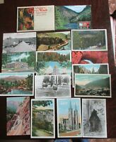 17 Lithograph & Real Photo Colorado Postcards Gold Mine Mining Town Sites Scenes