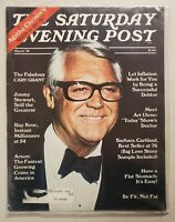 Saturday Evening Post Magazine March, 1978 Actors Cary Grant, Jimmy Stewart