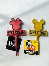 Disney Mickey Minnie Mouse Mini Welcome Signs Garden or Plant Spike 4 inch NWT