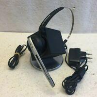Sennheiser DW 10 HS Office Headset 504327 W. Charging Dock Base Good Condition