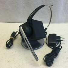 Sennheiser DW 10 HS Office Headset 504327 W. Charging Dock Base Good Condition