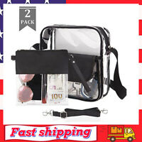 Clear Purse Crossbody Bag NFL & PGA Stadium Approved Clear Tote Bag for Women