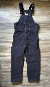 Walls Workwear Black Insulated Bib Overalls Size Medium 34-36 Thick Work Wear