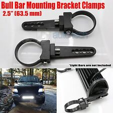 "2X 2.5"" O Type Tube BullBar Mounting Bracket Clamps Fog Off Road LED Light Bar"