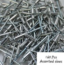 160 Pieces Stainless Steel Pop Rivets / Blind Rivets Assorted Sizes