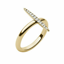 Michael Kors Mkj3522 Brilliance Matchstick Gold Tone Ring W Crystal Pave - Sz 6