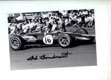 Bob Bondurant AAR Águila T1G Mexican Grand Prix 1966 Firmado fotografía