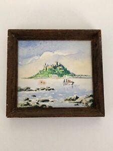 Dolls house miniature 1:12 original watercolour picture of St Michael's Mount