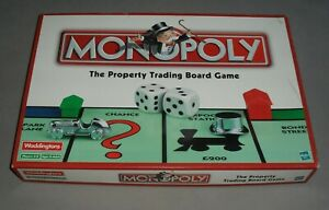 Monopoly Fun Property Trading Board Game Waddingtons 2002 COMPLETE EXC RARE