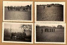 4 Fotos Gelsdorf Pfalz II.Weltkrieg Wehrmacht Soldaten beim Exerzieren 1940