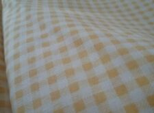 Gingham fabric yellow 3mm check NEW quality pieces x 265cm length each