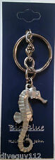 Scuba Diving Diver Key Chain KeyChain SeaHorse Silver New GP7247
