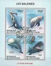 Timbres Faune marine Baleines Cote d'Ivoire 1354/7 o année 2014 lot 14526