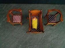 VTG Lot 1:12 Miniature Dollhouse Furniture Set / Collection - 4 Pieces